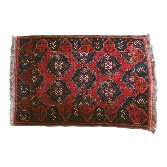 Vintage Persian Carpet Rug - 3′12″ × 6′2″ For Sale