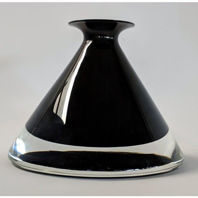 1980s 1980s Vintage Mario Pinzoni for Seguso Vetri d'Arte Glass Bottle For Sale - Image 5 of 13
