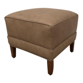 Modern Ethan Allen Leather Ottoman For Sale