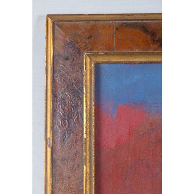 "Artist Elsa Schachter born 1912, oil on canvas, ""Summer Woods"", circa 1960s. Signed on the back. Framed."