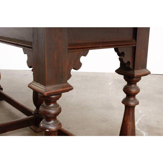 Late 19th Century 19th Century English Walnut Refectory or Console Table For Sale - Image 5 of 13