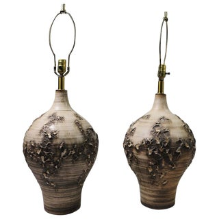 Pair of Ceramic Lamps by Lee Rosen for Design Techniques For Sale