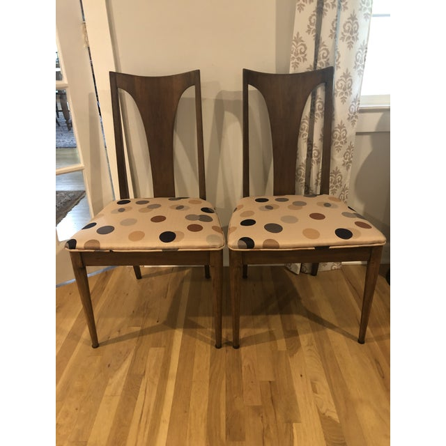 Mid Century Walnut Chairs by Lenoir - a Pair For Sale - Image 10 of 10