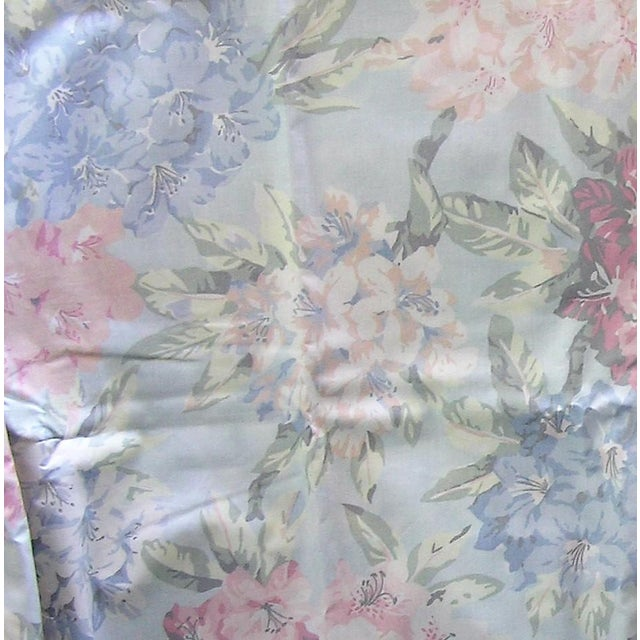 Mid 20th Century Vintage Schumacher Waverly Cotton Fabric Flower Show Botanical Collection 2-2/5 Yd For Sale - Image 5 of 6