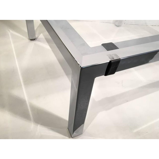 Acrylic and Chrome Cocktail Table by Charles Hollis Jones - Image 6 of 7