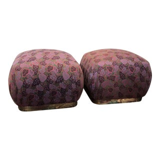 Mid-Century Modern Karl Springer Ottomans - A Pair For Sale
