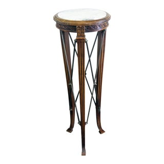 Antique Regency Style Marble Top Pedestal For Sale