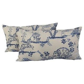 Animal Toile Textile Pillows - Pair