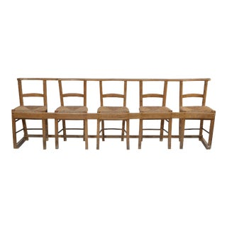 Antique Five-Chair Gang Seating For Sale
