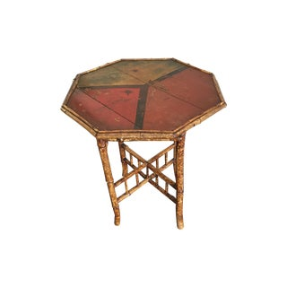 Vintage Chinese Chippendale Bamboo Table For Sale