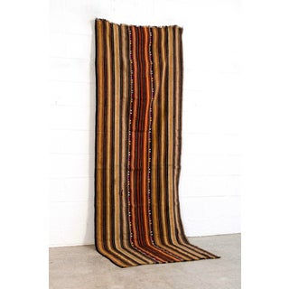 "Vintage Moroccan Hand Woven Striped Rug Runner - 2'10"" × 8'3"" Preview"