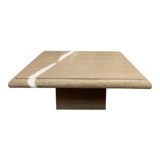 1960s Italian Travertine Coffee Table For Sale