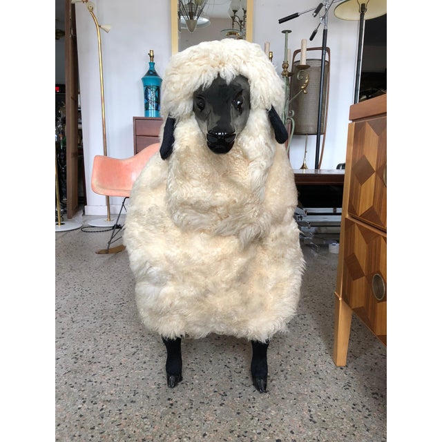 White Sheep Sculpture Ottoman in the Style of Lalanne For Sale - Image 8 of 10
