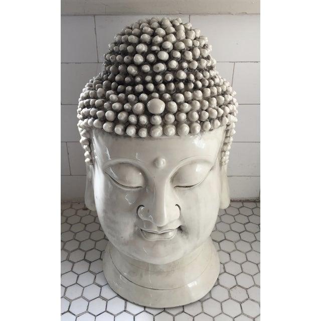 Chinese Blanc De Chine Buddha Head - Image 3 of 9