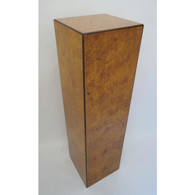 1970s Mid-Century Modern Drexel Heritage Furniture Pedestal Burlwood Veneers For Sale - Image 5 of 10