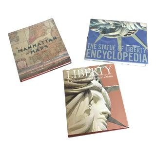 New York Theme Vintage Books - Set of 3 For Sale