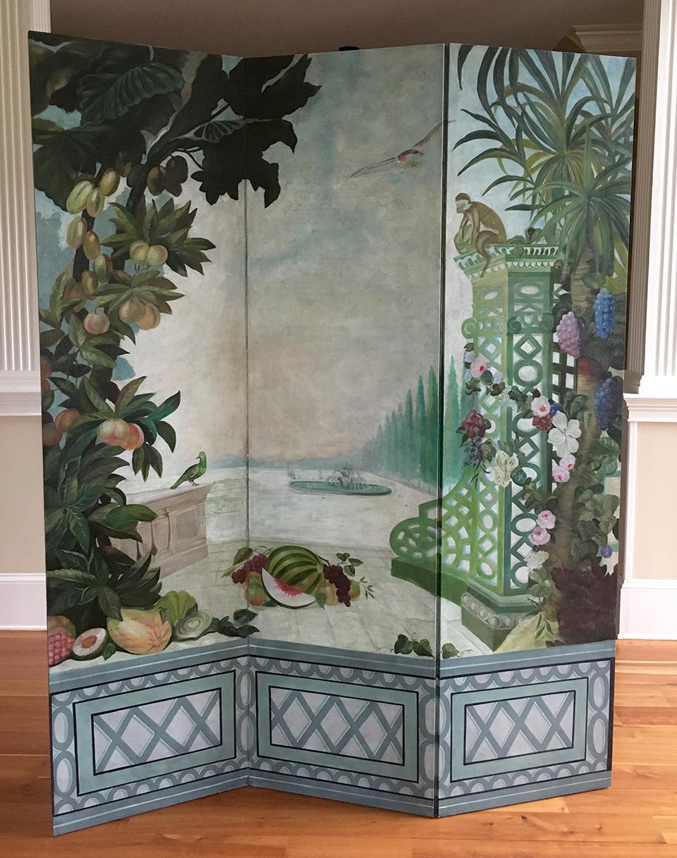 Maitland Smith Hand Painted Screen Chairish
