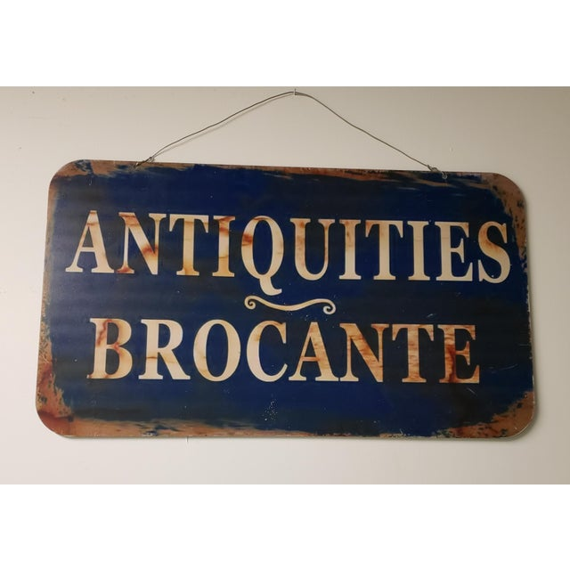 2 Sided French Antiques Shop Sign For Sale - Image 9 of 9