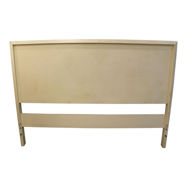 Mid-Century Danish Modern White Paul McCobb Planner Group Full Size Headboard For Sale
