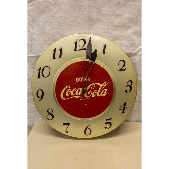 Here is a stellar piece of Americana - a 1960's Coca- Cola clock. Needs battery replacement, but in good condition...