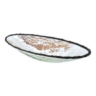 Modern Scott Amrhein Lumen Bowl Elliptical Translucent Art Glass Bowl For Sale