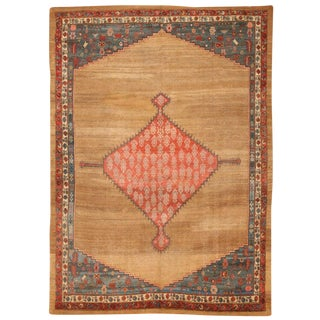 Exceptional Rare & Early Antique Early 19th Century Persian Bakshaish Carpet For Sale