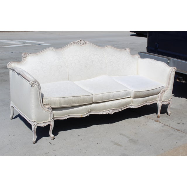 French Louis XV Style Settee Early 20c. For Sale - Image 3 of 5