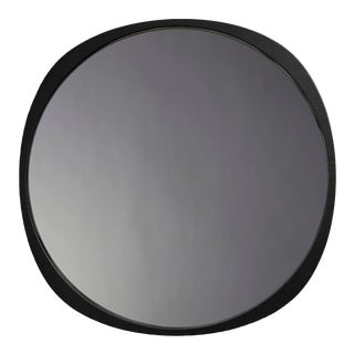 Contemporary Black Frame Smoke Fade Mirror For Sale
