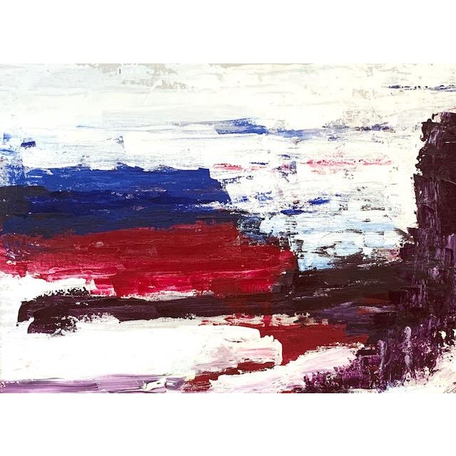 Abstract Large Mid Century Abstract Painting - Bright Landscape, Signed Boden For Sale - Image 3 of 10