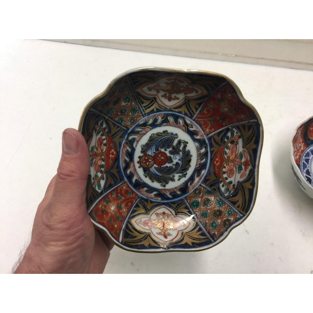 Asian Hand Painted Japanese Imari Bowls For Sale - Image 3 of 9
