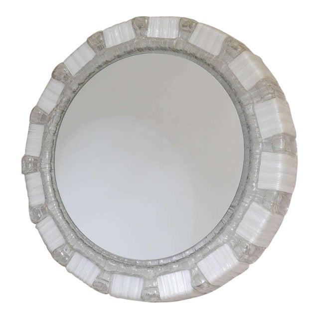 1970s Clear and White Resin Backlit Mirrors For Sale