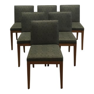 Set of 6 Medallion Fabric Dining Chairs