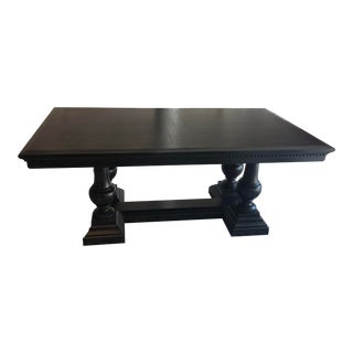 Traditional Restoration Hardware St. James Extension Dining Table For Sale