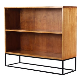 Paul McCobb Bookcase with Geometric Iron Base, Planner Group Series For Sale
