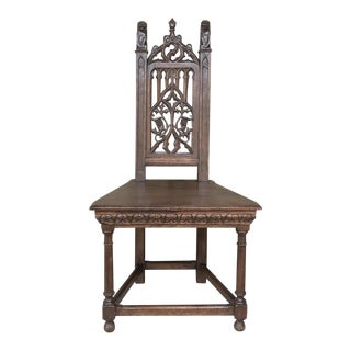 19th Century French Gothic Chair For Sale