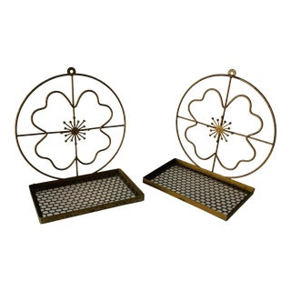 Mid Century Modern Atomic Wall Shelf -a Pair For Sale