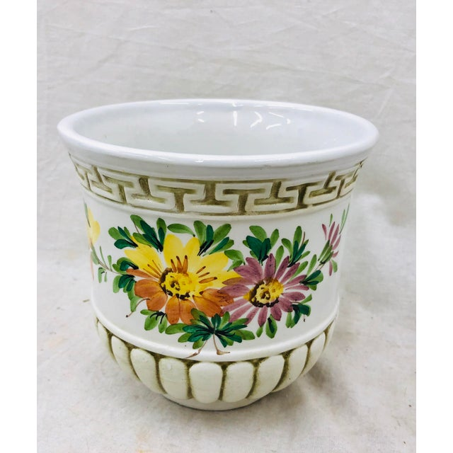 Hand Painted Italian Cache Pot For Sale In Raleigh - Image 6 of 6