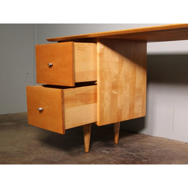 Brown 1960s Mid-Century Modern Paul McCobb Planner Writing Desk For Sale - Image 8 of 11