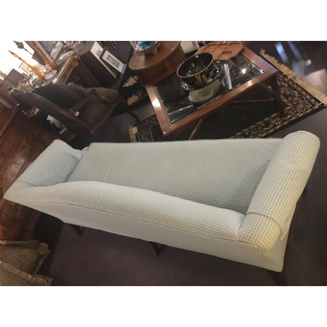Green and White Checkered Single Cushion Comfortable Sofa. Lots of life left and in amazing condition. You'll Chairish...