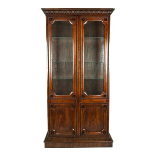 Vintage Mahogany Study Room Bookcase Vitrine Display Cabinet For Sale