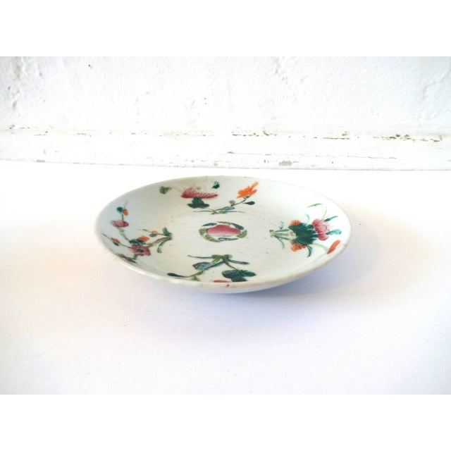 1736-1795 Qianlong Chinese Export Porcelain Famille Rose Dish For Sale - Image 4 of 8