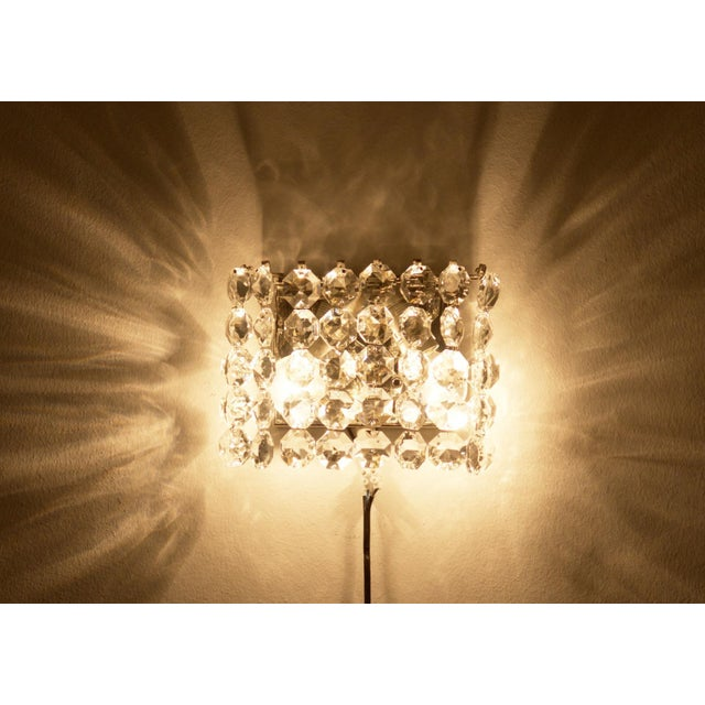 Crystal Vintage Crystal Wall Lamp from Austria by Bakalowits, 1960s For Sale - Image 7 of 8