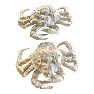 Ceramic Crab Figurines Oversized - a Pair