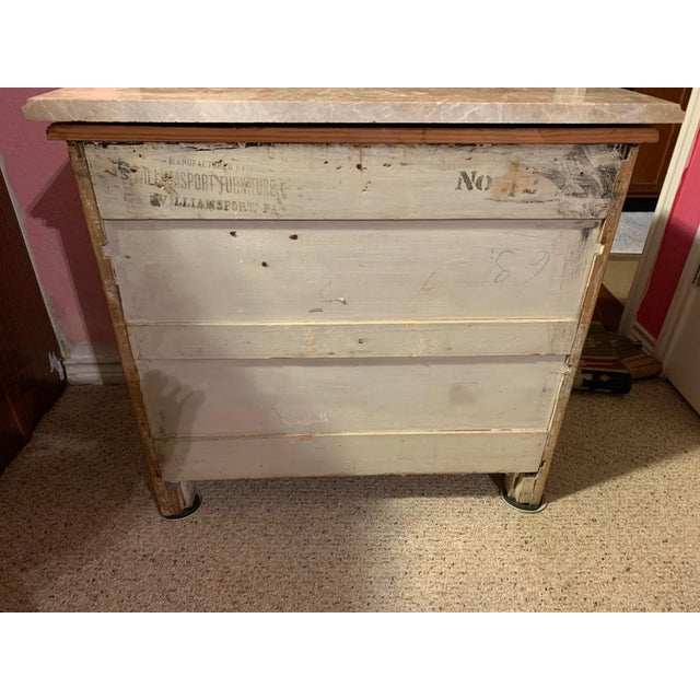 Wood Antique Miniature Commode by Williamsport Furniture Company Pa. For Sale - Image 7 of 9