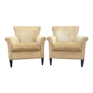 Crate & Barrel Lounge Chairs - a Pair For Sale
