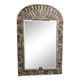 LaBarge Large Hand Carved Wood Mirror 54x82 For Sale