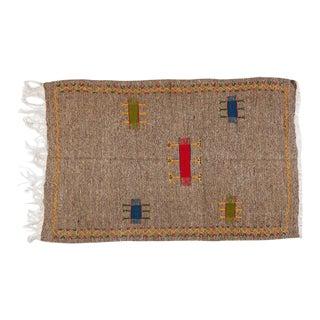 Medium Berber Rug - Handwoven Minimal Abstract Pattern For Sale