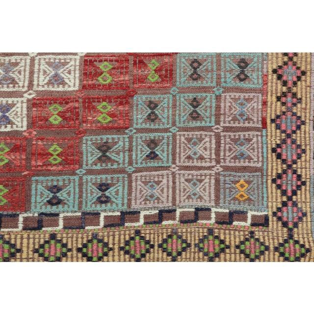 Vintage Turkish Kilim Rug-6′ × 12′8″ For Sale - Image 11 of 13