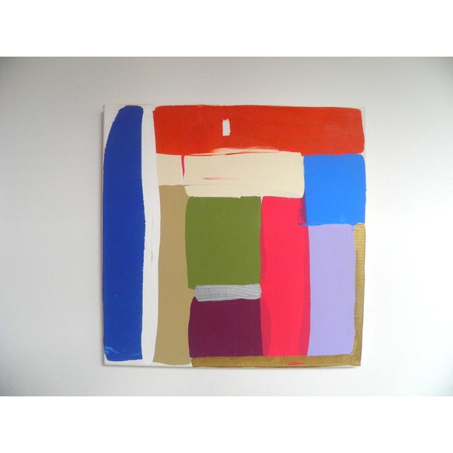 This acrylic painting on canvas is a colorful abstract that is being published for the print and design market by McGaw...
