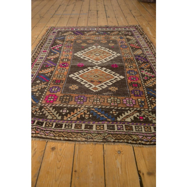"""Old New House Vintage Distressed Oushak Rug - 4'1"""" X 6'2"""" For Sale - Image 4 of 10"""